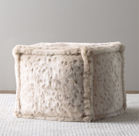 Luxe Faux Fir Poof by RH Baby and Child