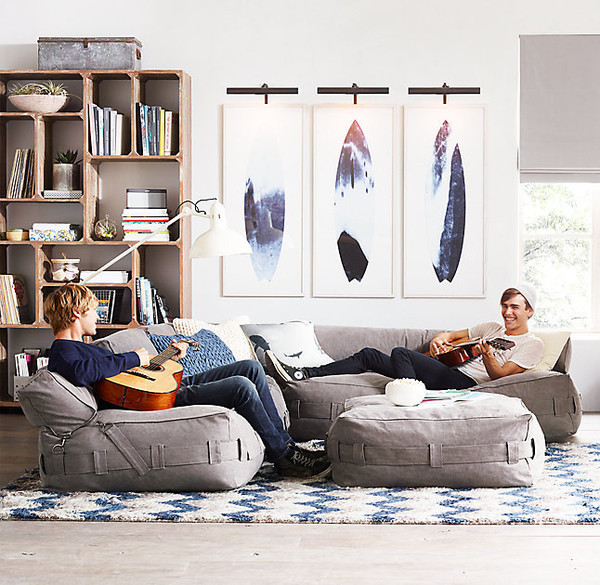 25 Things We Love from RH TEEN  Cargo Lounge Seating