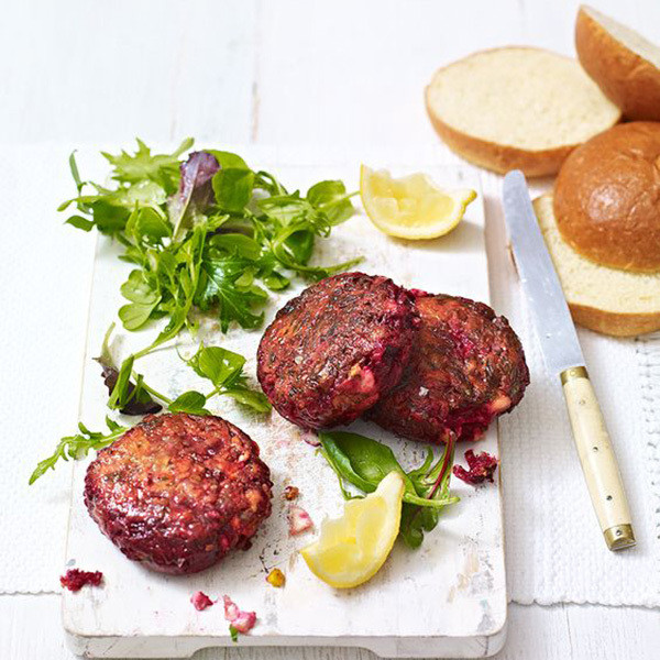 Beetroot And Feta Burgers