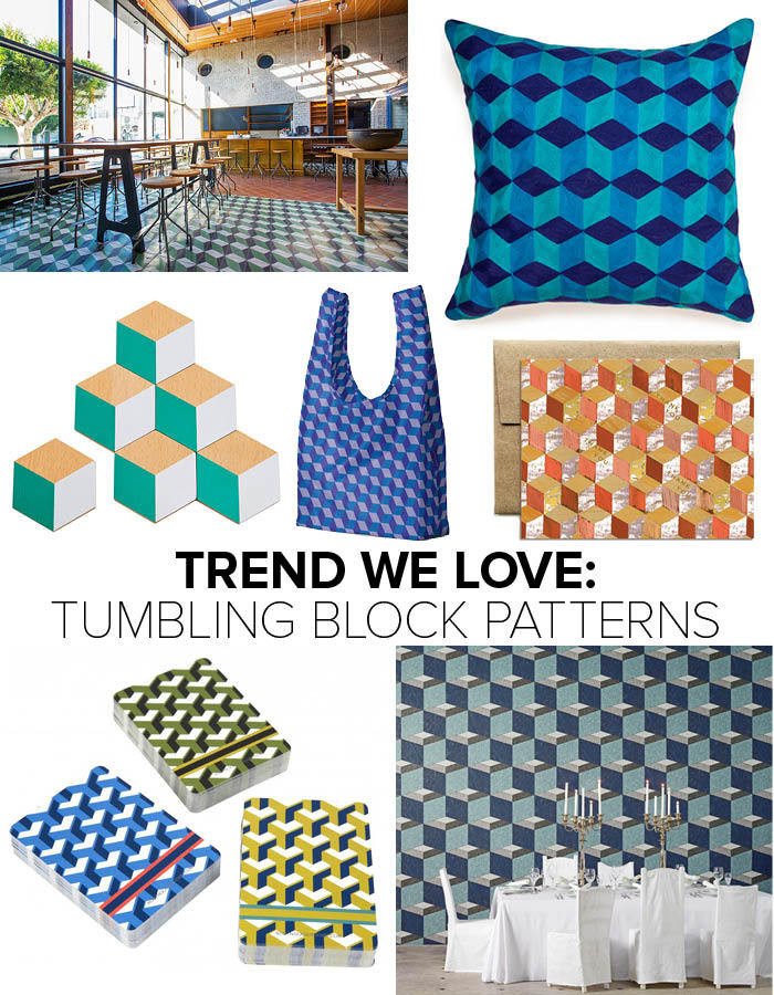 Trend: Tumbling Block Patterns