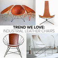 Industrial Leather Chairs Trend | Lonny