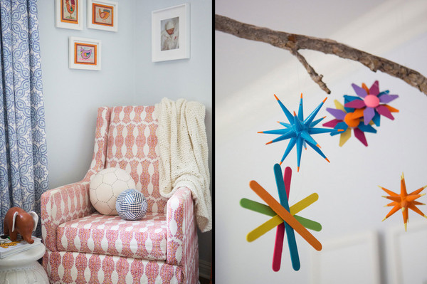 Toddler Brooks's sweetly decorated room at the home of Molly Sims.