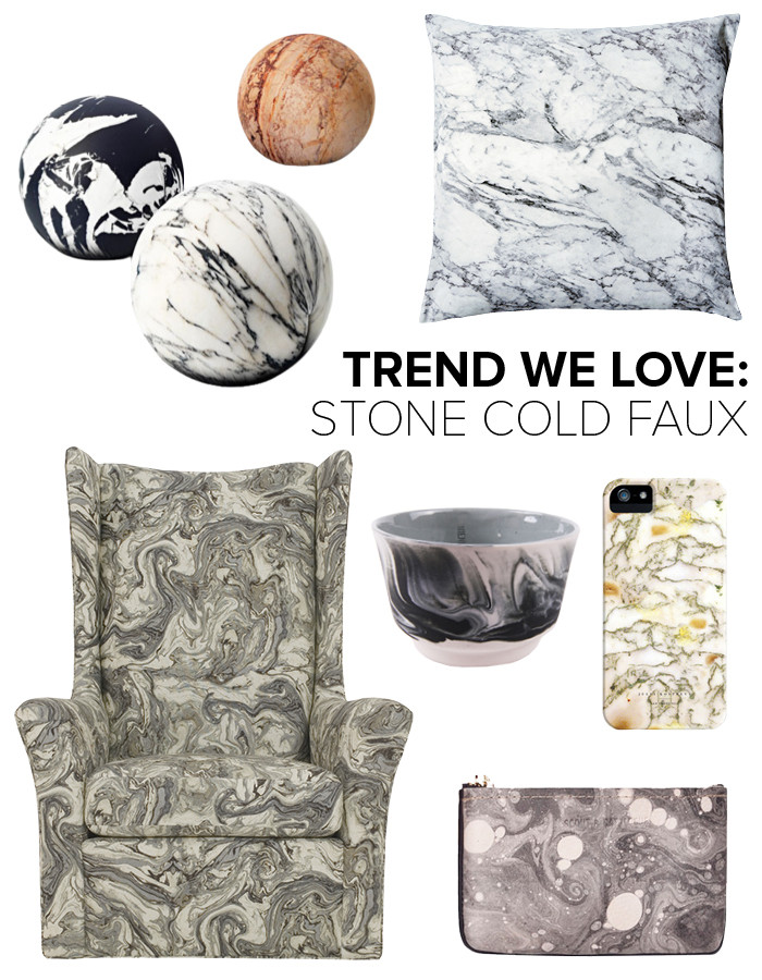 trend we love: faux marble