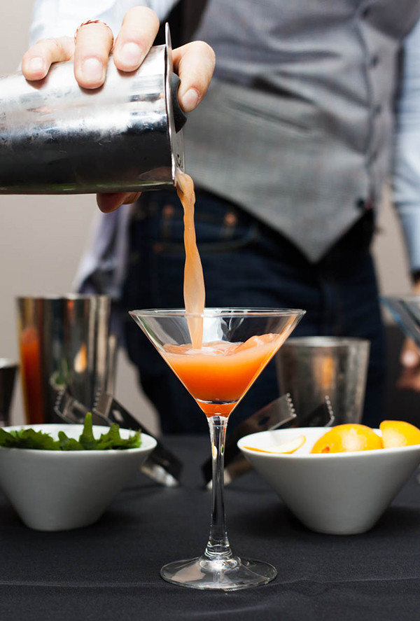 A classic blood-orange martini.