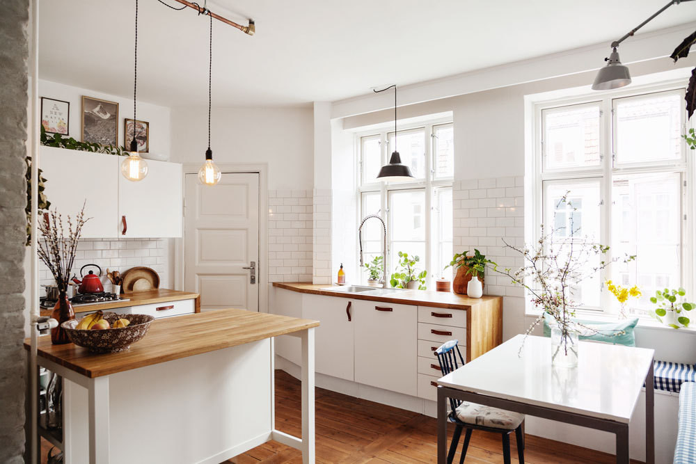 The renovated Copenhagen kitchen of nutritionist and food blogger Sarah Britton.