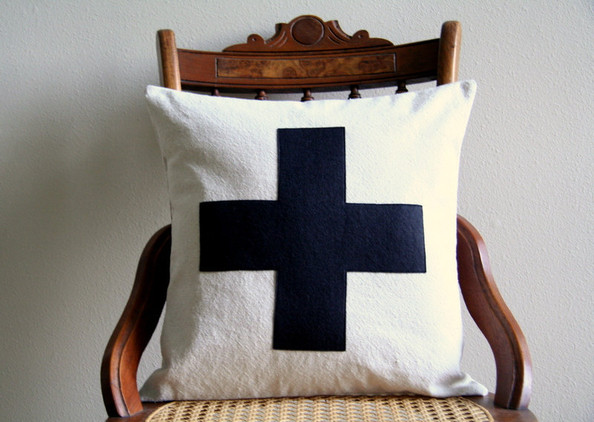 Swiss Cross Pillow Cover