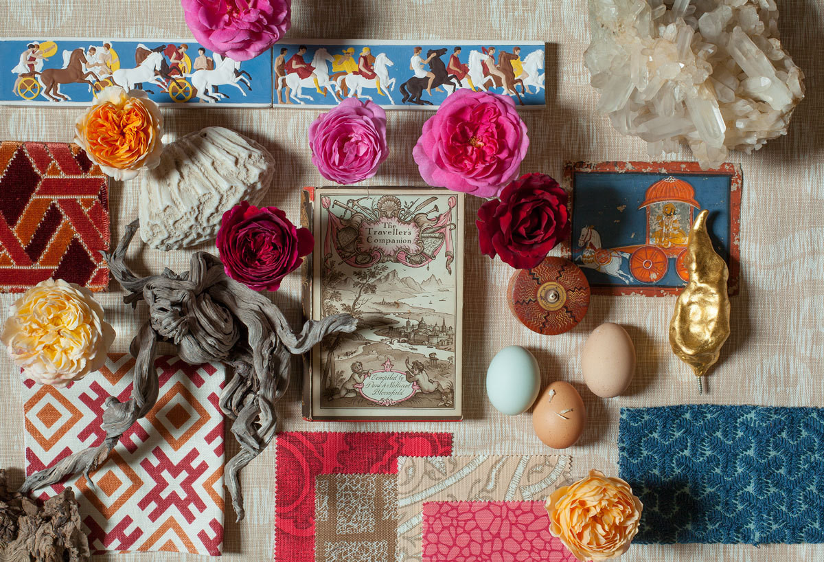 A still life of meaningful objets at the home of Ashley Hicks. Photographed by Ashley Hicks.