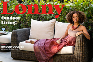 Celebrate outdoor living with Lonny's summer entertaining issue—starring designer Bridgid Coulter in her Los Angeles family home.