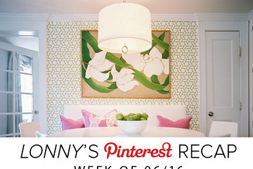 Lonny's Top Pins of the Week: Cult Status Wallpapers and Painted Pots