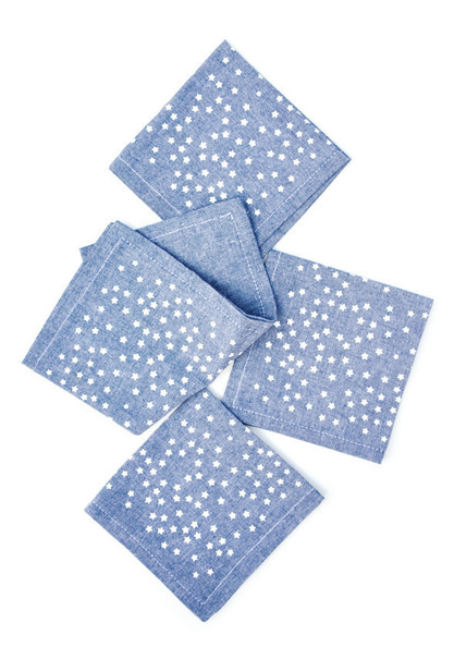 Star Chambray Cocktail Napkins