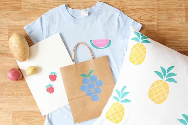 Attrayant Adorable DIY Potato Print Home Decor Projects Inspired By Fruit