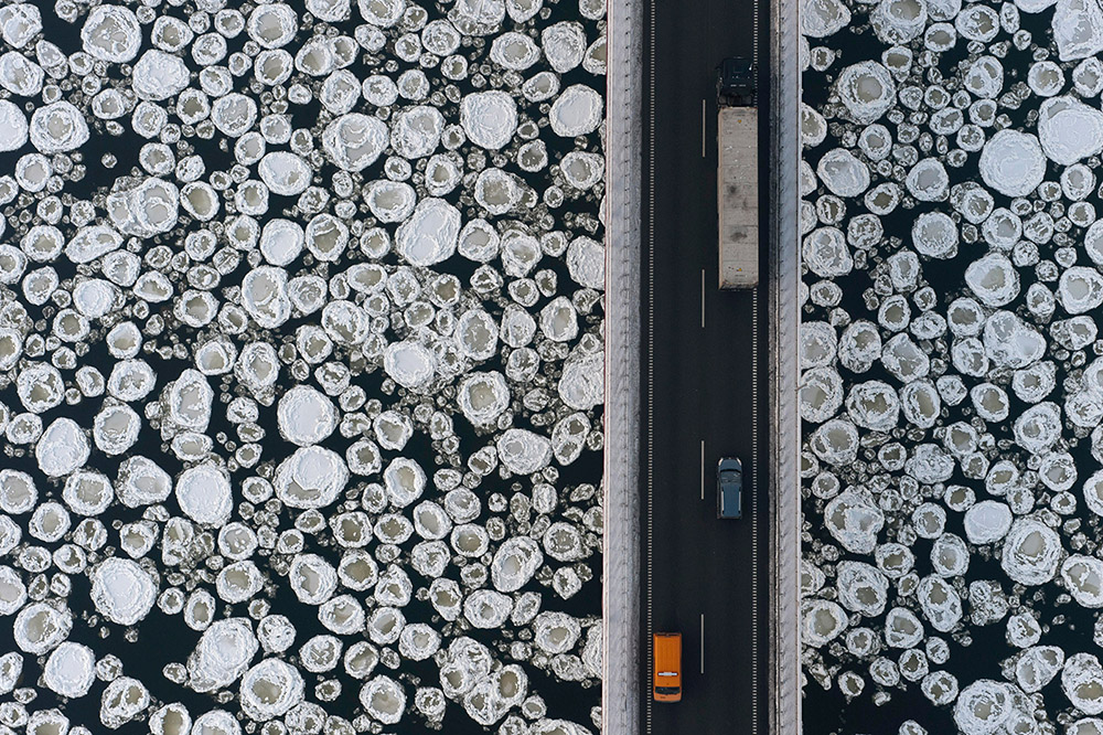 A view from above: Kacper Kowalski captures a landscape's patterns, both natural and manmade.