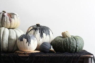 DIY To Try: Five-Minute Modern Art Pumpkins