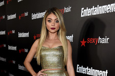 Sarah Hyland Glitters in Gold