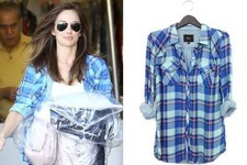 Found: Minka Kelly's Plaid Pastel Blouse