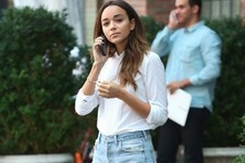 Ashley Madekwe's Downtown Chic Look
