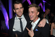 'Harry Potter' Actors Matthew Lewis and Tom Felton Challenged Each Other on Twitter and J.K. Rowling Loved It