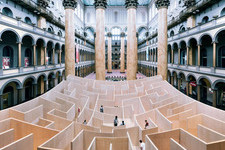 There is a Giant Maze Inside the National Building Museum