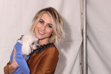 Julianne Hough Hangs Out with Some Furry Friends