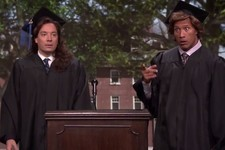 Jimmy Fallon and The Rock Give the Best and Worst Graduation Speech Ever