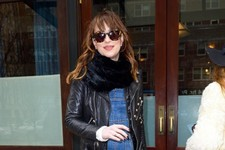 Dakota Johnson Steps Out in Overalls