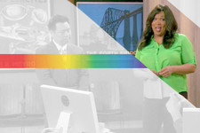 Kym Whitley's Rainbow of Button-Ups on 'Young & Hungry'