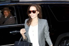 Angelina Jolie Arrives in NYC