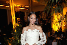 Look of the Day: Zoe Saldana's Ruffled Confection